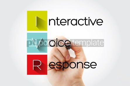 Business: IVR - Interactive Voice Response acronym with marker technology #14637