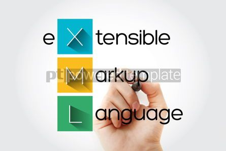 Business: XML - eXtensible Markup Language acronym technology concept bac #14638