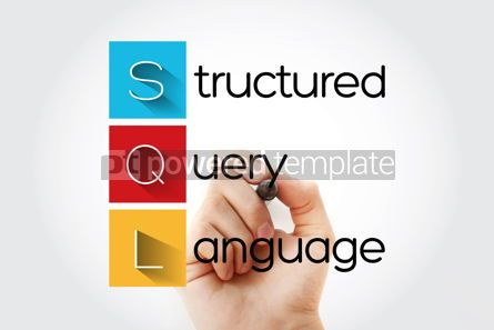 Business: SQL - Structured Query Language acronym with marker technology #14641