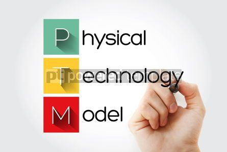 Business: PTM - Physical Technology Model acronym concept background #14642