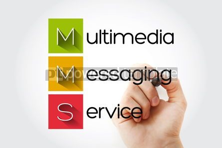 Business: MMS - Multimedia Messaging Service acronym business concept bac #14645