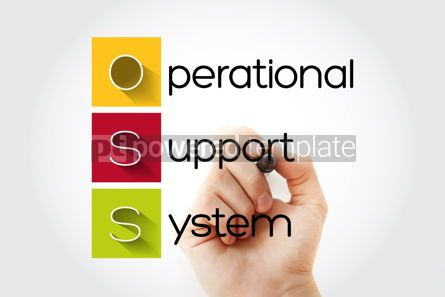 Business: OSS - Operational Support System acronym with marker technology #14646