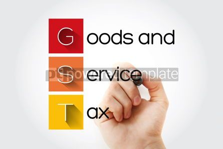 Business: GST - Goods and Service Tax acronym business concept background #14647