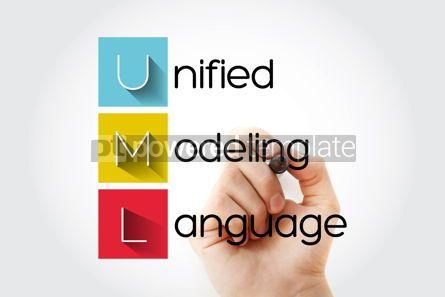 Business: UML - Unified Modeling Language acronym with marker technology #14649