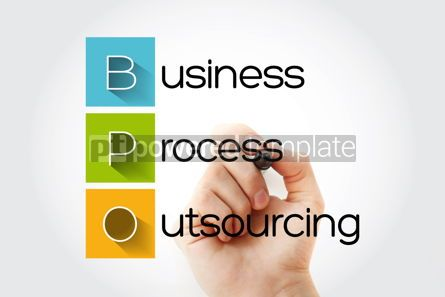 Business: BPO - Business Process Outsourcing acronym with marker concept #14651
