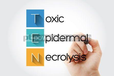 Education: TEN - Toxic Epidermal Necrolysis acronym with marker health con #14655