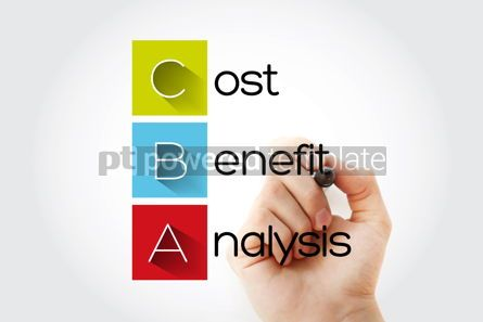 Education: CBA - Cost-benefit Analysis acronym with marker business concep #14656