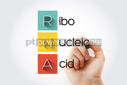 Education: RNA - Ribonucleic acid acronym with marker medical concept back #14662
