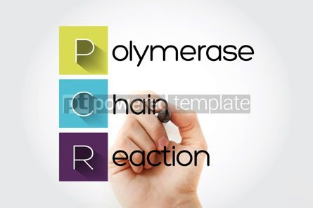 Education: PCR - Polymerase Chain Reaction acronym with marker medical con #14664