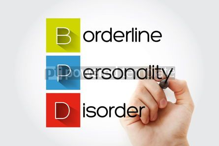 Education: BPD - Borderline Personality Disorder acronym with marker healt #14668
