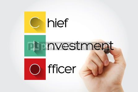 Business: CIO - Chief Investment Officer acronym with marker business con #14669