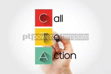 Business: CTA - Call To Action acronym with marker business concept backg #14671