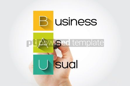 Business: BAU - Business as Usual acronym with marker business concept ba #14673