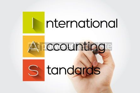 Business: IAS - International Accounting Standards acronym with marker bu #14674