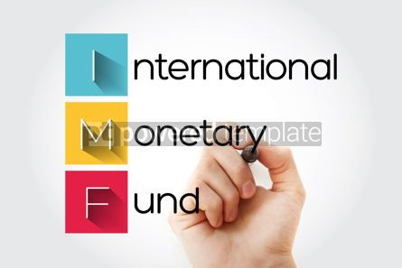 Business: IMF - International Monetary Fund acronym with marker business #14675