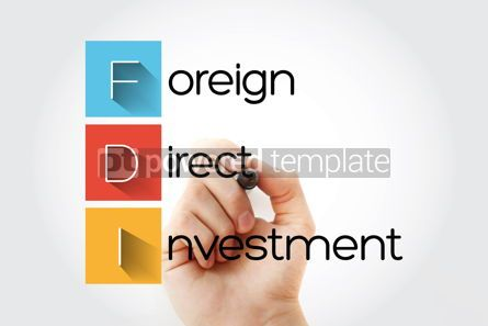 Business: FDI - Foreign Direct Investment acronym business concept backgr #14678