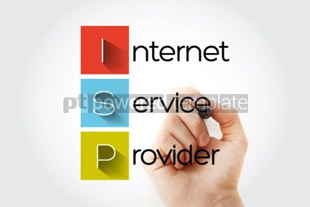 Business: ISP - Internet Service Provider acronym technology concept back #14679