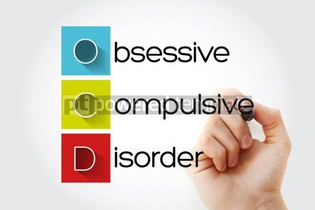Education: OCD - Obsessive Compulsive Disorder acronym health concept back #14685