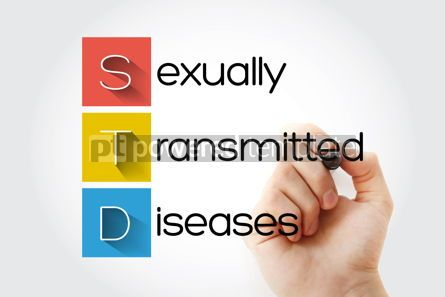 Education: STD - Sexually Transmitted Diseases acronym medical concept bac #14686