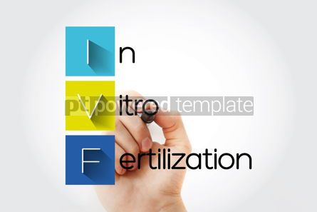 Education: IVF - In Vitro Fertilization acronym health concept background #14691