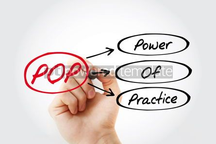 Business: POP - Power Of Practice acronym business concept background #14702