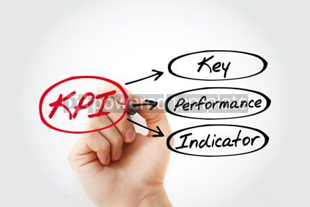 Business: KPI - Key Performance Indicator acronym business concept backgr #14706