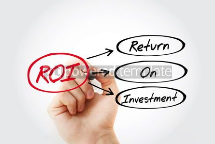Business: ROI - Return On Investment acronym business concept background #14707