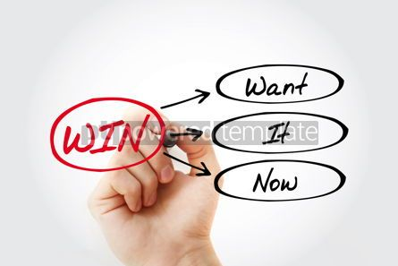 Business: WIN - Want It Now acronym concept background #14709