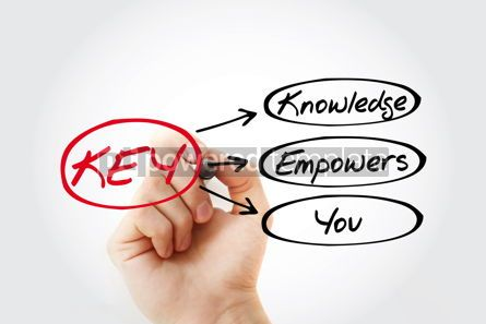 Business: KEY - Knowledge Empowers You acronym business concept backgroun #14711