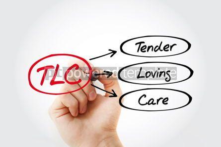 Business: TLC - Tender Loving Care acronym concept background #14714