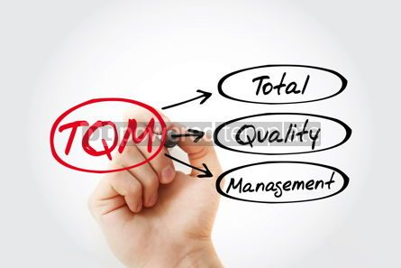 Business: TQM - Total Quality Management acronym business concept backgro #14718