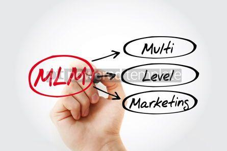 Business: MLM - Multi Level Marketing acronym business concept background #14727