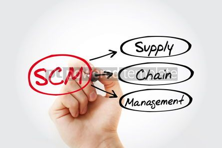 Business: SCM - Supply Chain Management acronym business concept backgrou #14729