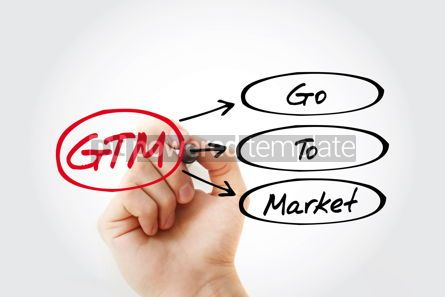 Business: GTM - Go To Market acronym business concept background #14736