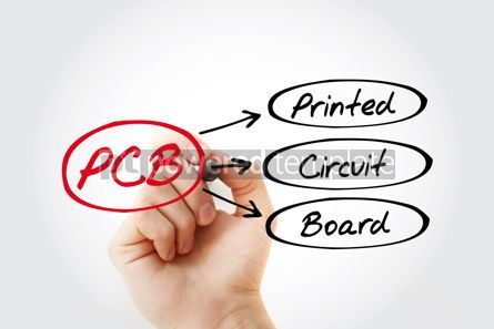 Business: PCB - Printed Circuit Board acronym technology concept backgrou #14740