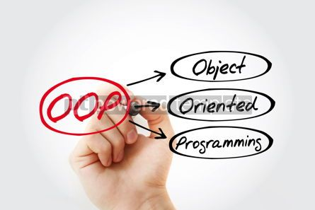 Business: OOP - Object Oriented Programming acronym technology concept ba #14743