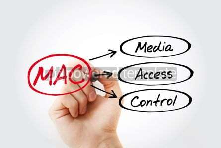 Business: MAC - Media Access Control acronym technology concept backgroun #14744