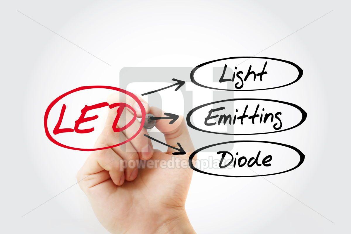 LED - Light Emitting Diode acronym technology concept backgroun, 14748, Business — PoweredTemplate.com