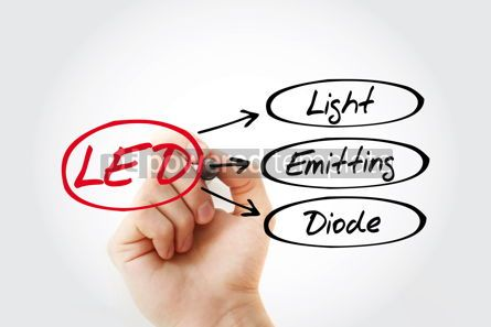 Business: LED - Light Emitting Diode acronym technology concept backgroun #14748