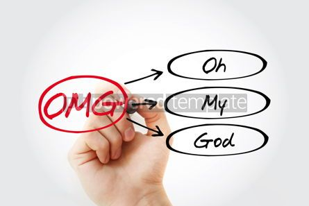 Business: OMG - Oh My God acronym with marker concept background #14752