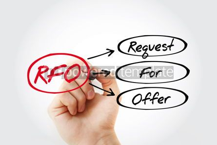 Business: RFO - Request For Offer acronym business concept background #14764