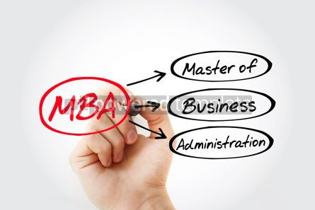 Business: MBA - Master of Business Administration acronym with marker bus #14767