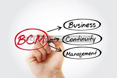 Business: BCM - Business Continuity Management acronym with marker busine #14769
