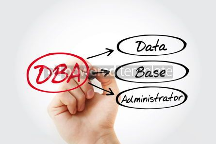 Business: DBA - Database Administrator acronym technology concept backgro #14771
