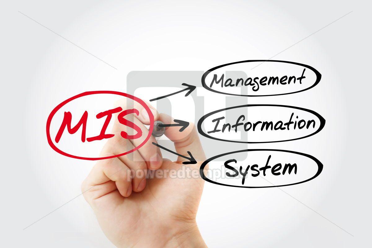 MIS - Management Information System acronym business concept ba, 14776, Business — PoweredTemplate.com
