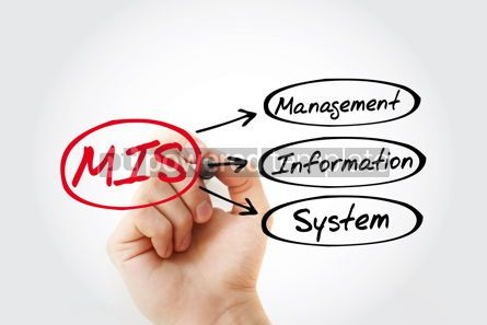 Business: MIS - Management Information System acronym business concept ba #14776