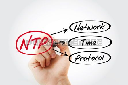 Business: NTP - Network Time Protocol acronym technology concept backgrou #14778