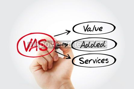 Business: VAS - Value Added Services acronym business concept background #14779