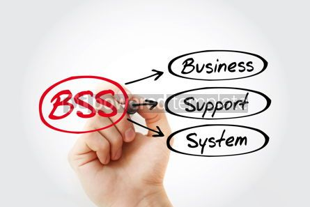 Business: BSS - Business Support System acronym with marker concept back #14783