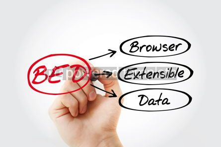 Business: BED - Browser Extensible Data acronym with marker technology co #14784